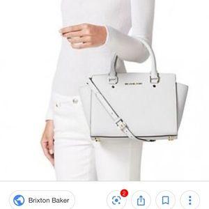 Michael Kors Selma LARGE Satchel White purse